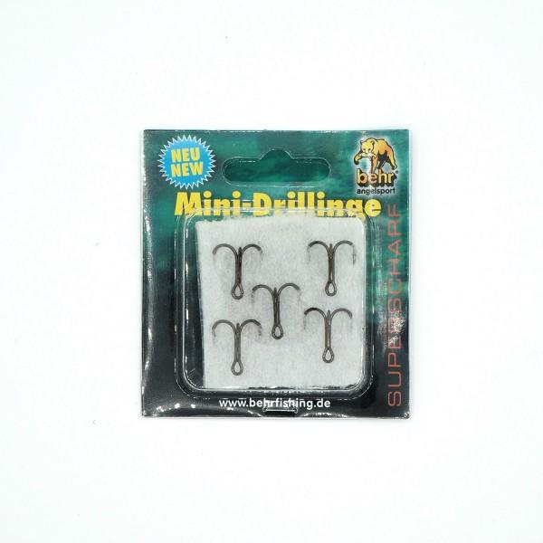 Mini Drillinge Haken Größe 8 superscharf 5 Stück Set