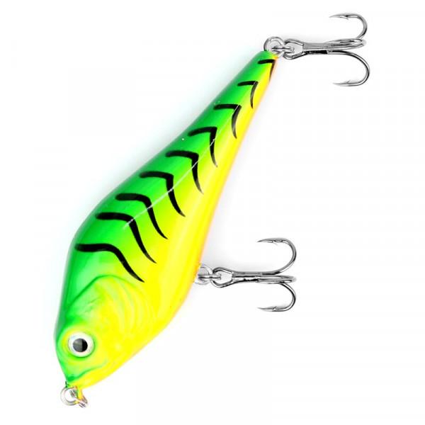 Major Fish Medium Jerkbait 10cm Firetiger 21g Hecht Wobbler UV
